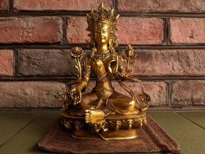 Green Tara Buddhist Bronze Statue