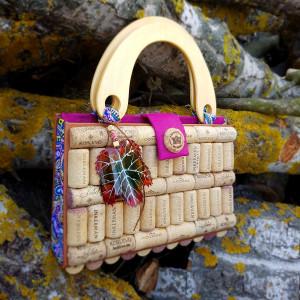 Wine Cork Bag, Natural Cork Eco bag, Original bag, Eco-friendly Bag, Recycled materials Bag, Book Bag, Gift for a wine lover, Autumn Bag