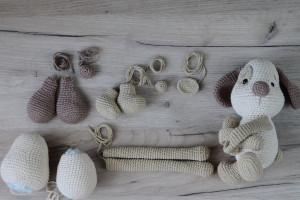 Crochet Pattern Dog Curtain Tieback, Window Treatments, PATTERN in English