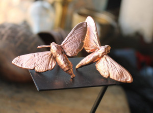 Night butterfly metal brooch limited edition, magic insect copper electroplated, pendant brooch