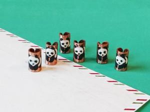 Panda Dreadlocks beads Set of 4, Handmade braids jewelry, Boho Cuffs, Girl Dreadlocks, Dread beads, Beard Hair Rings, Unique dread coils