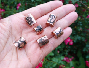 Boho Dreadlocks Beads Set 6, Hair coil, Dread Beads, Hair Rings, Dread schmuck, Lock Jewelry, Boho Jewelry, Dread hair beads, Dread Bead Set