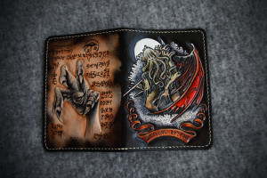 Cthulhu Ftagn. Leather passport cover