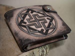 Valkyrie symbol. Short tooled wallet