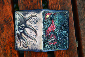 Call of Cthulhu. Tooled leather passport cover.