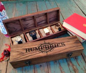 WATCH BOX, Compartment watch box, Storage box, Groom's gift, Handmade watch box, Anniversary gift, watch case, watch box, Watch Box Wood