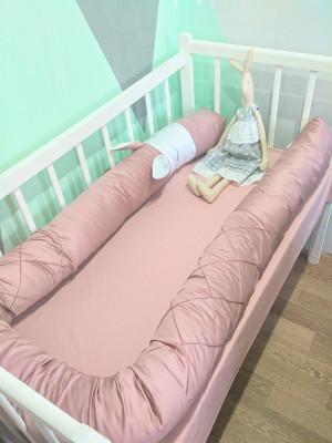 premium sateen snake pillow pink crib bumper