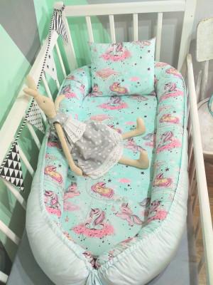 blue baby nest - magic unicorn