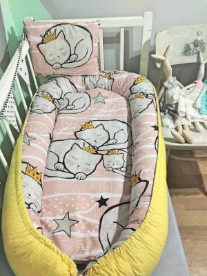 pink baby nest - sleep cat