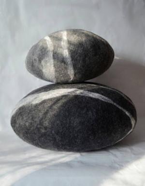 Felted wool stones , Felted wool stone , Pebble pillows , pillows , felted wool stone pillows , natural home stone decoration , Big stone