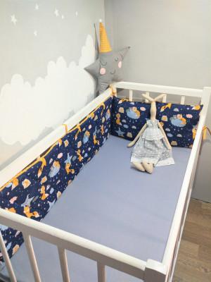 crib bumper blue crib bumper US size