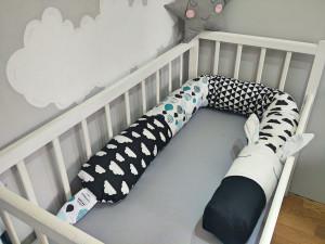 baby crib bumper - snake pillow