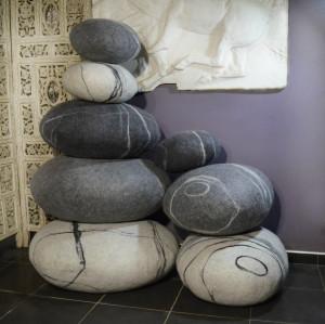 Pouf pillows  set , pillows and poufs  , ottoman , round pillow