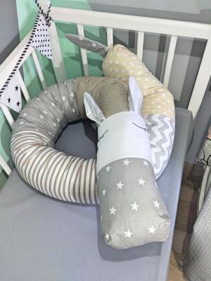 soft crib bamper - snake pillow