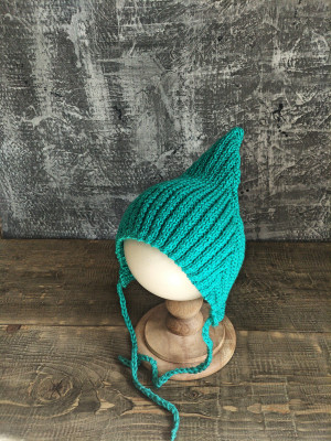 newborn crochet elf hat boy knitted hat