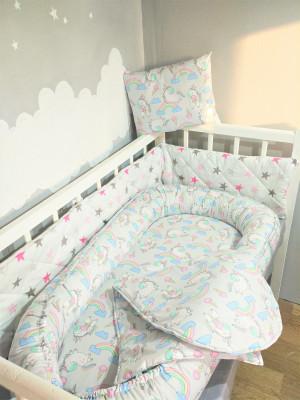 baby nest bed - iridescent unicorn