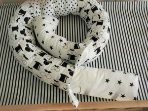 white snake pillow - custom bolster pillow