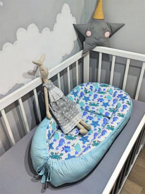 blue baby nest bed - sea world