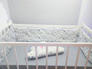 crib bumper boy gray double - sided  crib bumper pads