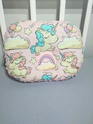 soft pink orthopedic pillow 12 х 10 inches