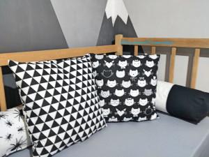 Set of 2 pillows Monochrome pillow Monochrome nursery size: 14 х 14 inches