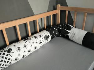 baby snake pillow - black bolster pillow