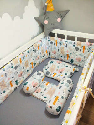 crib bumper set - baby positioner - orthopedic pillow as a gift