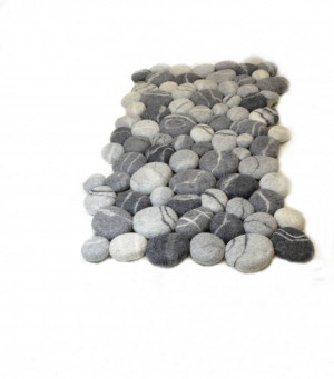 Felt stone rug , Felt carpet , Felted wool stone , Felt Stone Rug Bath Mat , Floor Rug , Felt carpet soft pebbles , Home decor