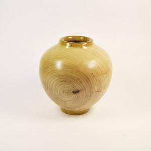 Handmade Turned Wood Boho Vase - Custom Made Ash Urn - Vase - Sugar Bowl