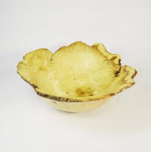 Natural Handturned Live Edge Wood Bowl - Handmade Fruit Or Salad Bowl - Food Platter