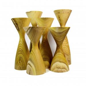 Handmade Handturned Wood Candlestick Set - Mid Century Inspired Candle Holders - Custom Made