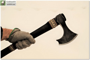 "Special edition Ax ""Keltic Knight""- axes of this type were used to protect owner's life and to show Warrior's status among a crew."