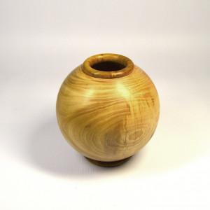 Handmade Handturned Ash Wood Boho Vase - Ash Urn - Sugar Bowl -