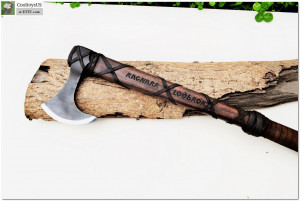 "Viking Axe with Leather Wrapped Handle ""Ragnar""- The Best quality replica of the Axe from TV show. Better than in the show:)"