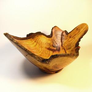 Live Natural Edge Wooden Bowl - Turned Wood - Handmade Fruit Bowl - Food Platter - Custom Made