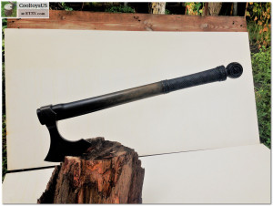 Middle axe , camping axe, hand forged axe, hand crafted axe, hand made axe. Traditional Viking hatchet with carved handle.