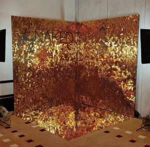 Two sides shimmer wall Shimmer Sequin Air Active Panel - Sequin Panel - Wedding Backdrop - Event Backdrop - AirFleck - Live Panel