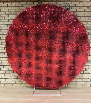 Shimmer round backdrop Sequin Air Active Panel - Sequin Panel - Wedding Backdrop - Event Backdrop - AirFleck - Live Panel solaair