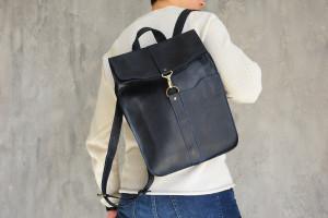 Blue Leather bag,Laptop bag,Backpack School,Backpack, Leather backpack, Backpack women,Mens backpack,Laptop backpack,Minimalist backpack