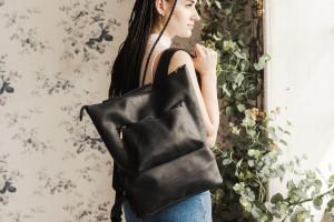 Backpack, Black backpack, Leather backpack, Backpack women,Student gift, Laptop backpack,Leather camera bag, Minimalist backpack,College bag
