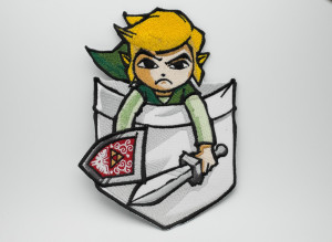 Link In The Pocket - Embroidered Patch -  The Legend Of Zelda -  NES - SNES -  Badge - Iron On - Denim Jacket Patch