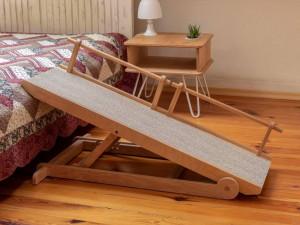 Wooden dog ramp, cat ramp, pet ramp. Folding animal ramp. Pet furniture.