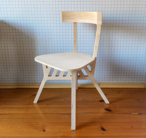 Self-assembly chair, wooden chair, plywood chair in scandinavian style, farmhouse chair, industrial chair, modern chair.