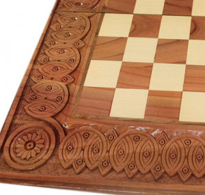 "20"" Set Backgammon Chess Checker Handcrafted board wooden Custom Large chess set Strategy game Hand Carved Backgammon Tables Gift for father"