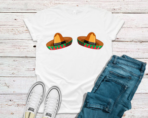 Cinco De Mayo Shirt Sombrero Boobs Shirt Funny Cinco De Mayo Womens Boobshirt Party Gift Fiesta Shirt Short-Sleeve Unisex T-Shirt