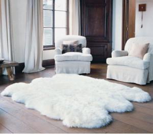 "White Genuine sheepskin rug 83"" x 67""  Natural Throw Ivory Very thick short fur rug Genuine leather Pelt Sheep skin decorative rug"