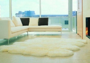 "Natural Genuine sheepskin rug 90"" x 83"" White Natural Throw Ivory Very thick short fur rug Genuine leather Pelt Sheep skin decorative rug"
