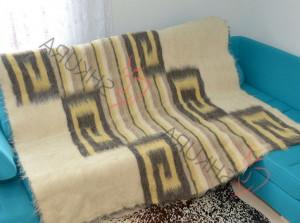 100% Merino Wool blanket Natural throw blanket Wool heavy blanket Organic throw blanket boho Hypoallergenic bohemian throw blanket