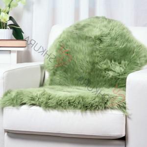 "Green Genuine sheepskin rug short fur 43"" x 30""  Christmas gift Natural Throw Very thick rug Genuine leather Pelt Sheep skin decorative rug"