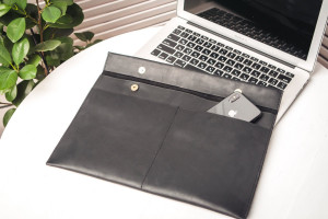 Laptop sleeve, Leather laptop bag, Macbook sleeve, Macbook sleeve 13 inch, 12 inch macbook sleeve, Leather laptop sleeve, Black laptop case